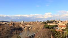 View from the Giardino degli Aranci. Zoom. Rome, Italy. Time Lapse. 4K Stock Footage