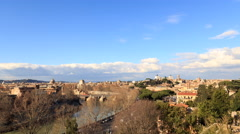 Rome's rooftops. View from the Giardino degli Aranci. Rome, Italy. Time Lapse. Stock Footage
