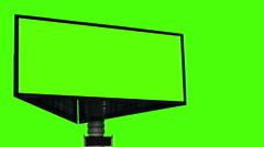Bigboard on a green screen Stock Footage