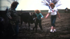 (8mm Vintage) 1952 Napoleon Dynamite Type Owned By Cows. Iowa, USA. Stock Footage