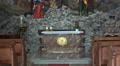 Altar and crucifixion figures tilt church Hallstatt HD Footage