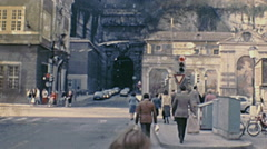 Salzburg 1981: people walking in the street Stock Footage