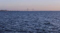 Oresund Bridge (Tv Series famous bridge)Sea Bridge  Stock Footage