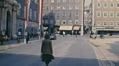 Salzburg 1981: Residenzplatz Stock Footage
