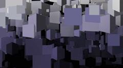 Cubes background loop Stock Footage