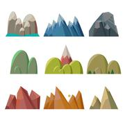 Mountains Isolated - stock illustration