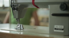 Sewing Machine Focus Pull Stock Footage