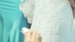 Lacing wedding dress Arkistovideo