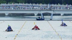 4k video of Dragon Boat Races in Hong Kong, on June 20, Stock Footage