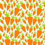 Carrot Seamless Pattern Background Vector Illustration - stock illustration