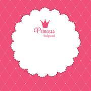 Stock Illustration of Princess Crown  Background Vector Illustration