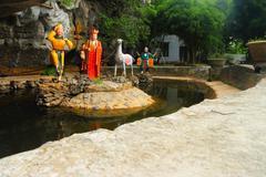 Tam coc 3 temples on mountain Stock Photos