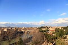 River Tibr, view from the Giardino degli Aranci. Rome, Italy. Time Lapse. 4K+ Stock Footage