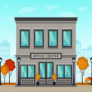 Office Center Building Stock Illustration