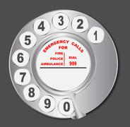 Stock Illustration of Old Style Telephone Dial