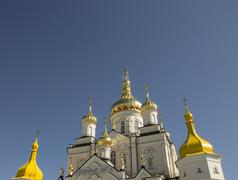Domes of the Orthodox Church, Christianity in Europe - stock photo