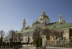 Orthodox Church and its dome in Pochayiv Lavra Stock Photos