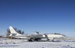 Military aircraft on  Ukraine Aviation Museum Stock Photos