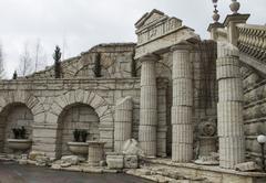 Architecture and balances era of ancient Greece Stock Photos