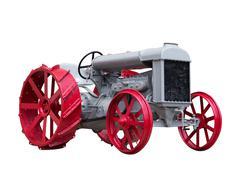 Collectible antique toy model tractor Stock Photos