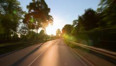 Driving a car - Sunset - Country Road - Part 8 of 8 - stock footage