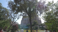 Sagrada Familia church in Barcelona Stock Footage