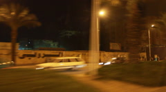 Traffic at night in Cairo, Egypt Stock Footage