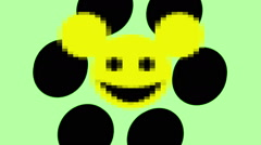 Smiley emoticon mouse Stock Footage
