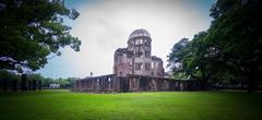 Hiroshima Bomb Dome in Japan. Kuvituskuvat