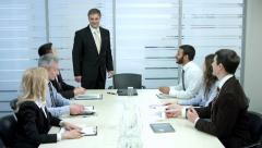 Angry boss tore contracts. Chief dissatisfied with their employees. - stock footage