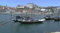 Porto  wine barrels, Portugal. UNESCO protection Stock Footage