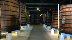 Wine cellar in the Portugal Stock Footage