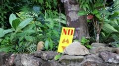 Sign No In Bikini Stock Footage