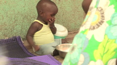 Child eating Stock Footage