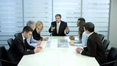 Businessmen won the tender. Business team happy success. Happy people. Stock Footage
