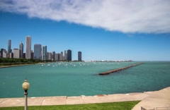 Timelaps view an Downtown Chicago Stock Footage