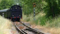 Steam engine runs very close by, Swabian Forest Railway Stock Footage