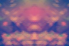 Background of retro geometric triangle shapes. Colorful mosaic pattern - stock illustration
