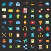 56 Icons Set Business - stock illustration
