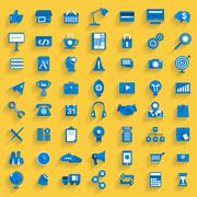 56 Icons Set Business - stock illustration