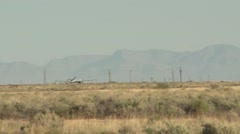 MQ-1's and MQ-9's UAv Drones sitting on the flight line of Holloman AFB, Stock Footage