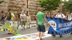 Environmental Activists Protest FERC and Fracking 4K Stock Footage