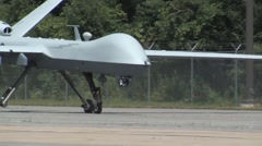 MQ-9 Remotely Piloted Aircraft (RPA) operations Stock Footage
