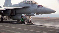 Aircraft Launches and Recoveries Aboard USS George H.W. Bush Stock Footage