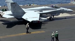 Aircraft Launches and Recoveries Aboard USS George H.W. Bush - stock footage