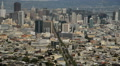 San Francisco Time Lapse Cityscape 10 Clouds above downtown HD Footage