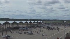 Selfridge Open House and Air Show Saturday and Sunday and crowds - stock footage