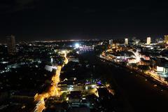 City scape Chiangmai Thailand Stock Photos