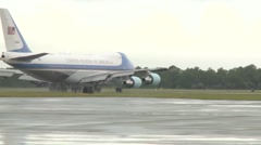President Obama Departs MacDill Stock Footage