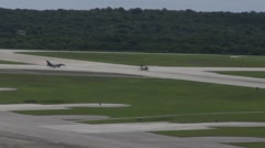 U. S. aircraft take off from Andersen Air Force Base, Guam Stock Footage
